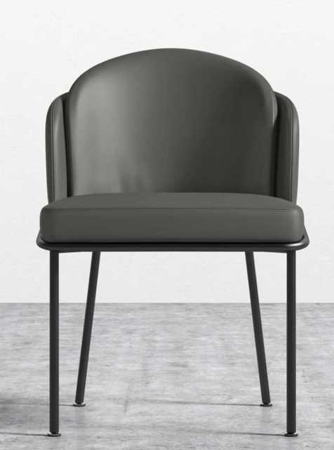 Angelo Dining Chair, Trento black, Black legs - Rove Concepts