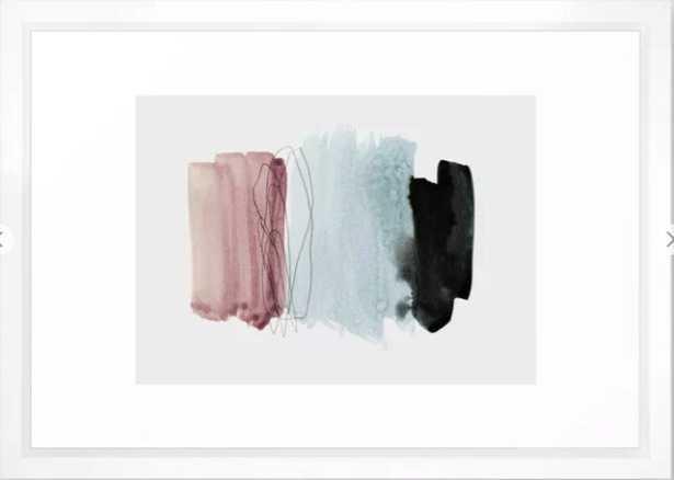 minimalism 4 Framed Art Print-Vector White - Society6