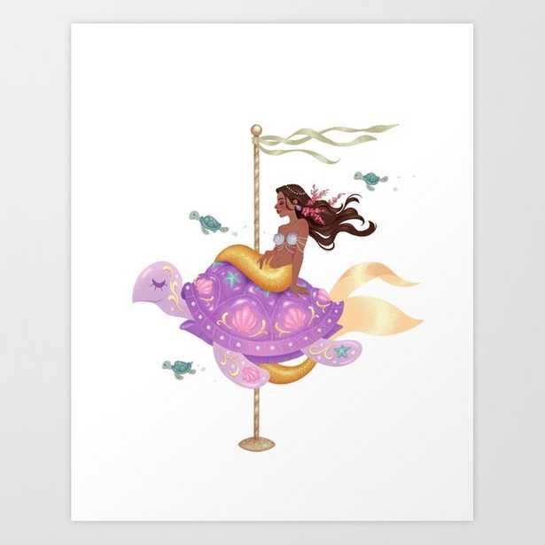 Mermaid Carousel - The Sea Turtle Art Print - Society6