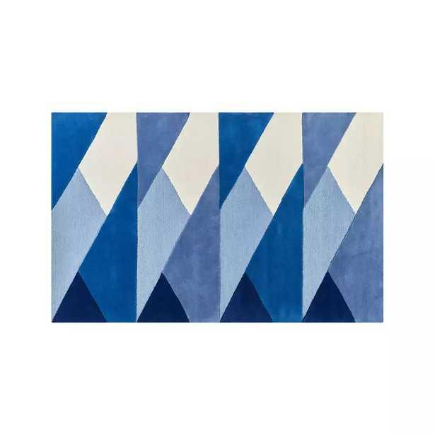 Blue Modern Geometric Rug 5'x8' - Crate and Barrel