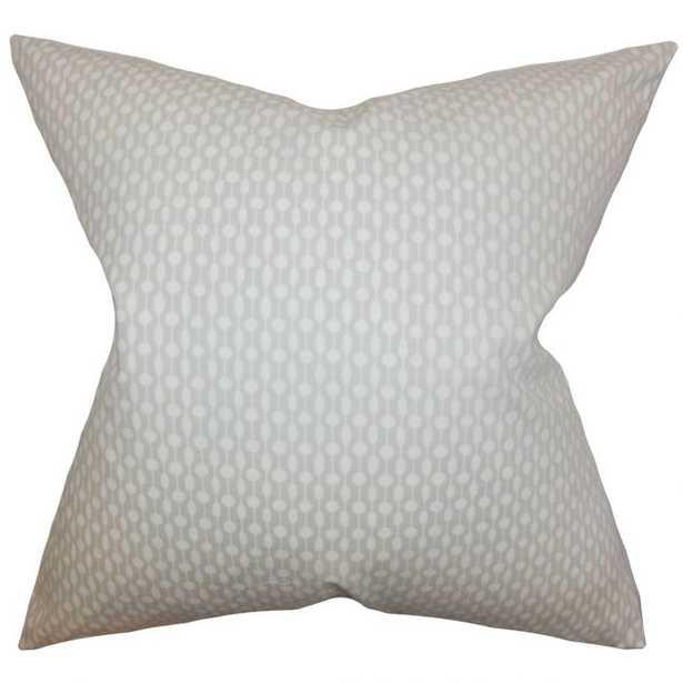 Orit Geometric Pillow Oyster -  Down Insert Lumbar - Linen & Seam
