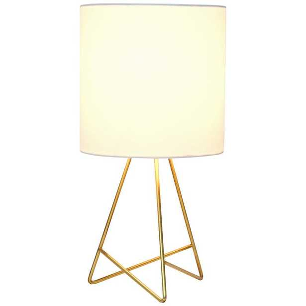 """Simple Designs 13 1/2"""" High Gold Metal Accent Table Lamp - Lamps Plus"""