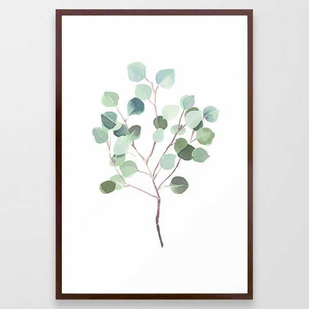 Eucalyptus Leaves Botanical Print Framed Art Print by Becky Bailey - Society6
