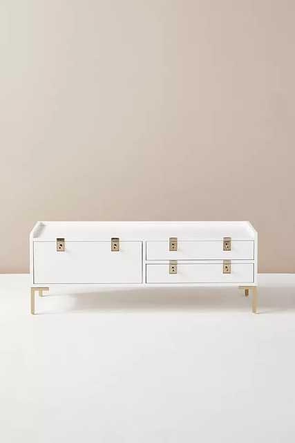Ingram Storage Bench By Anthropologie in White - Anthropologie