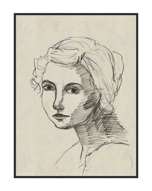 """PORTRAIT OF A LADY 1 Framed Art - 15"""" x 20"""" - McGee & Co."""