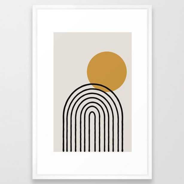 Rainbow, Gold Sun, Framed Art Print - Society6