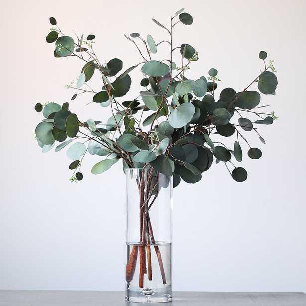 Real Touch Eucalyptus Arrangement In Large Glass Vase - Wayfair