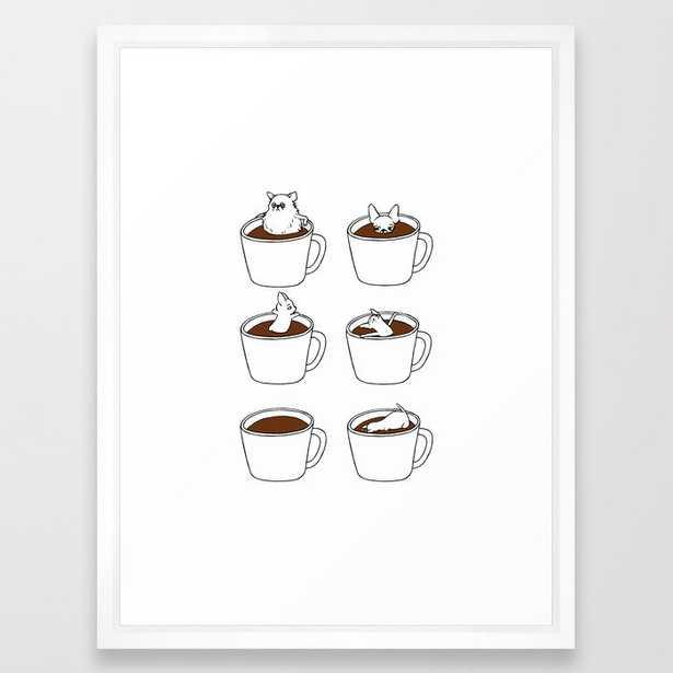 More Coffee Chihuahua Framed Art Print - Society6