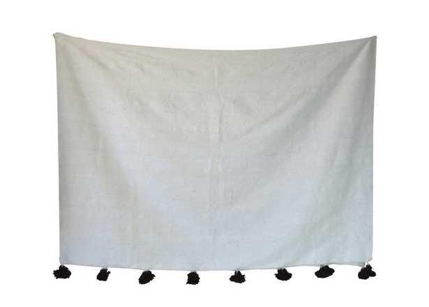 Juno Pom Pom Cotton Blanket - Wayfair