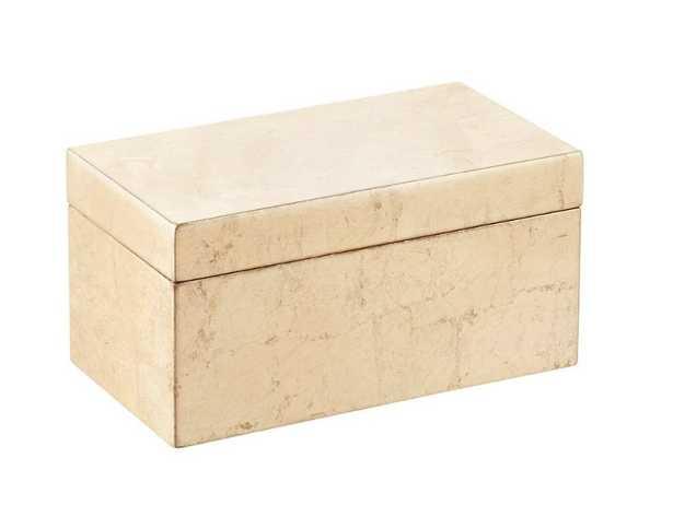 Medium Lacquered Rectangular Box Gold - containerstore.com