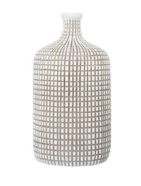 Grid Bottle Vase Small - 10H - McGee & Co.