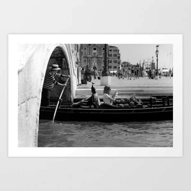 Venice city Travel photography Black and white Art Print - Society6