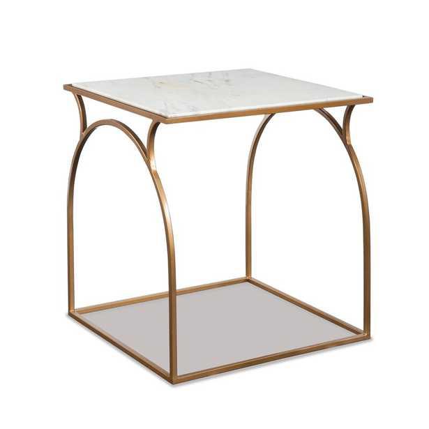 Cecilia Marble Top Floor Shelf End Table with Storage - Perigold