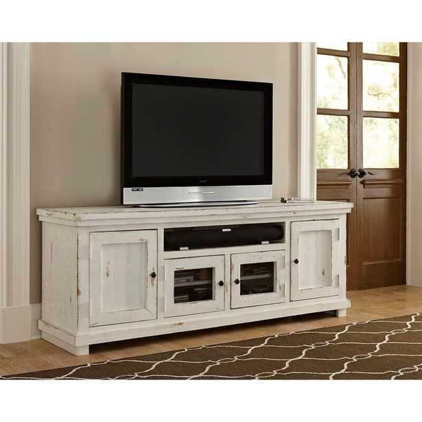 """Pineland TV Stand for TVs up to 78"""" - Distressed White - Wayfair"""