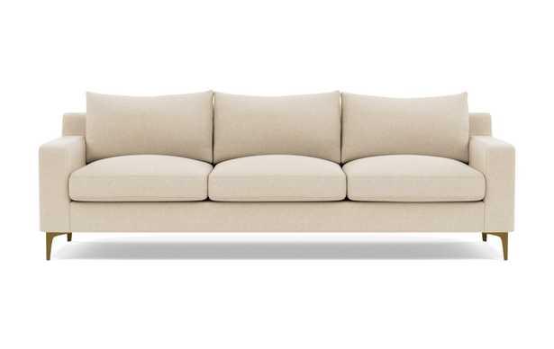 Custom: SLOAN 3-Seat Sofa /  Sand + Brass - Interior Define