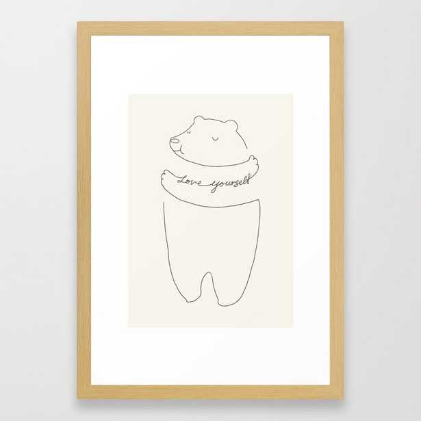 Love Yourself Bear Framed Art Print - Society6