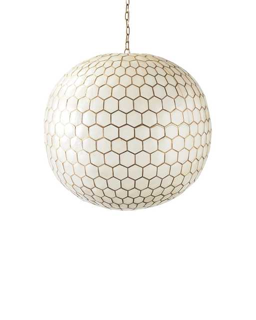 Capiz Honeycomb Chandelier - Small - Serena and Lily