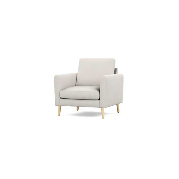 The Arch Nomad Armchair in Ivory, Oak Legs - Burrow