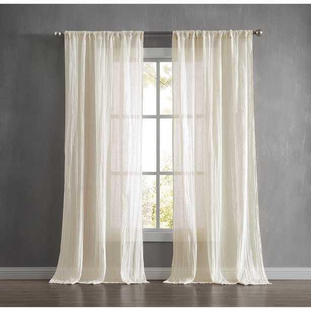Charter Crushed Window Solid Semi-Sheer Curtain Panels - Wayfair