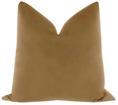 """Signature Velvet Pillow Cover, Nutmeg, 20"""" x 20"""" - Little Design Company"""