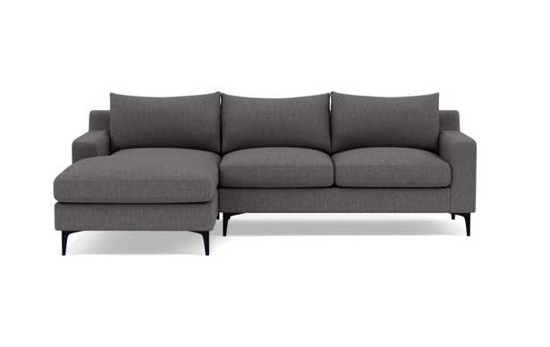SLOAN Sectional Sofa with Left Chaise - down alternative - Interior Define