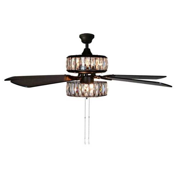 """52"""" Demonbreun 5 - Blade Ceiling Fan with Pull Chain and Light Kit Included - Wayfair"""
