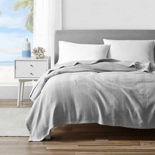 Cotton Blanket Gray - Wayfair