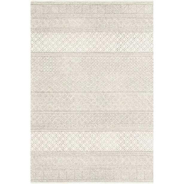 Foundry Select Pittsfield Hand-Tufted Wool Cream Area Rug - 9'x12' - Wayfair