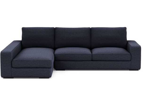 AINSLEY Sectional Sofa with Left Chaise,Matte Black Ainsley Low L Leg - Interior Define