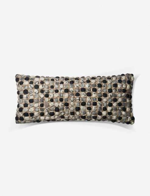Montre Lumbar Pillow, Grey and Multi, ED Ellen DeGeneres Crafted by Loloi - Lulu and Georgia