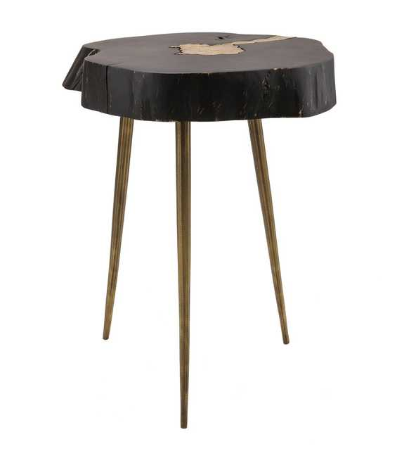 Kenzie Black and Brass Side Table - Maren Home