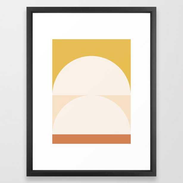 "Abstract Geometric 01 Framed Art Print, 20"" x 26"", Vector Black Frame - Society6"