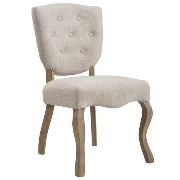 ARRAY VINTAGE FRENCH UPHOLSTERED DINING SIDE CHAIR IN BEIGE - Modway Furniture