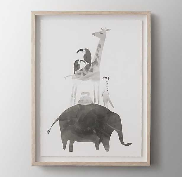 WATERCOLOR STACKED ANIMAL ART - ELEPHANT - RH Baby & Child