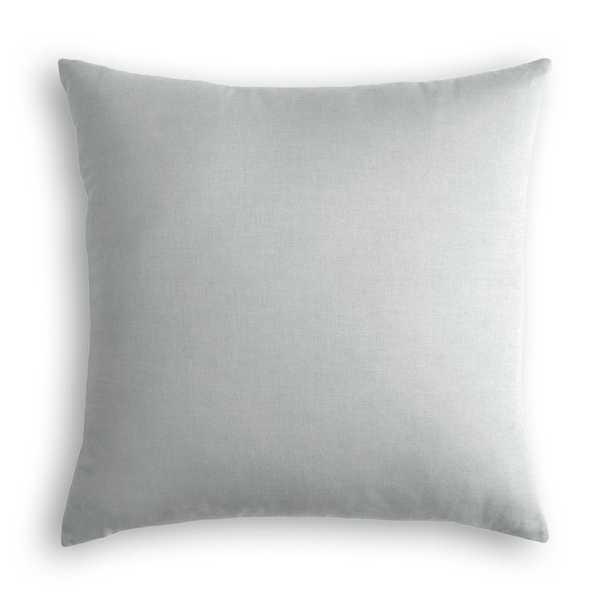 "Classic Linen Pillow, Classic Gray, 18"" x 18"" - Havenly Essentials"