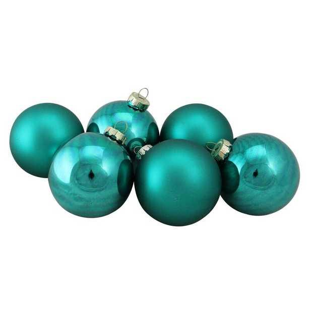 Glass Christmas Ball Ornament (6 pc) - Wayfair