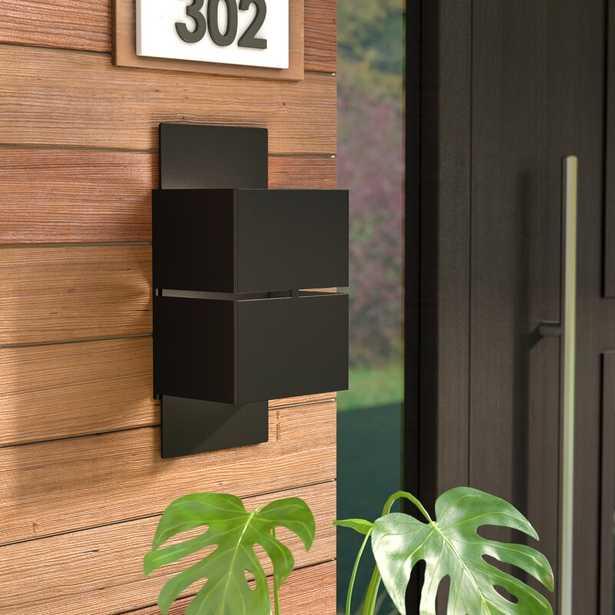 Matte Black Olivia LED 2-Light Outdoor Flush Mount - Wayfair