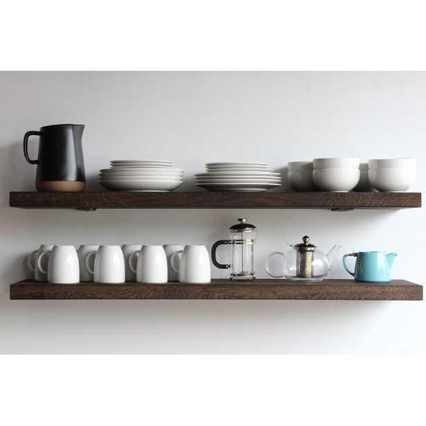 Geller Modern Hardwood Wall Shelf- set of 2 - Wayfair