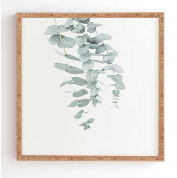 MINT EUCALYPTUS II - 12'' x 12'' - Bamboo frame - Wander Print Co.