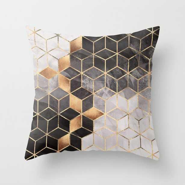 Smoky Cubes Throw Pillow - Society6