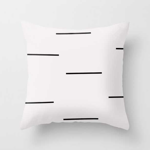 Mudcloth White Black Dashes Throw Pillow - Society6