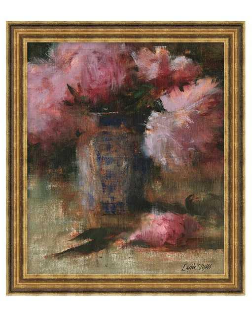 PEONIES & VASE Framed Art - McGee & Co.