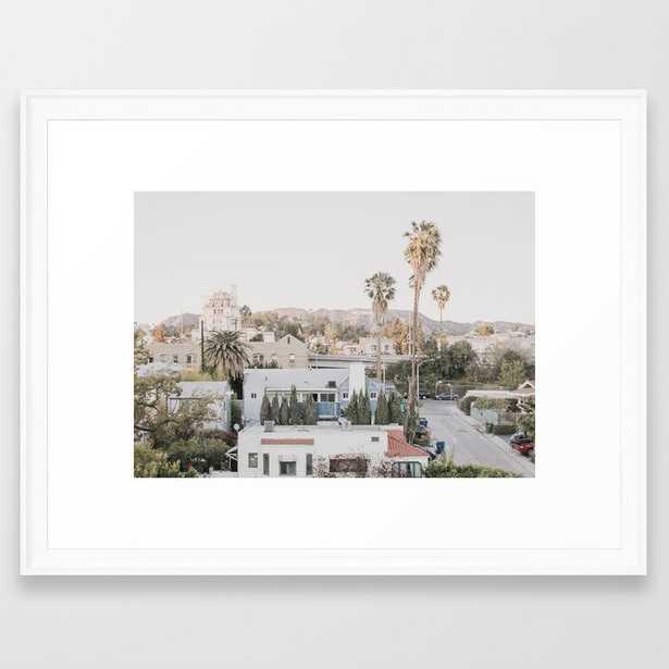 "Hollywood California Framed Art Print 20 x 26"" - Society6"