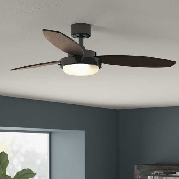 """52"""" Corsa 3 Blade Ceiling Fan with Remote, Light Kit Included - Wayfair"""