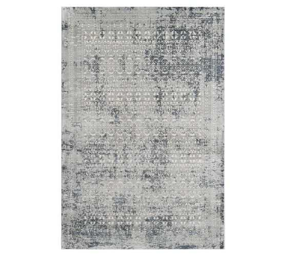 Micah Synthetic Rug, Charcoal, 7'10 x 9'10 - Pottery Barn