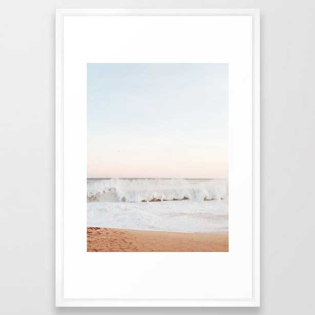 Beach Mood California Beach Framed Art Print - Society6