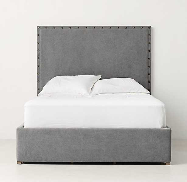 AXEL UPHOLSTERED TALL STORAGE BED - Queen - RH Teen