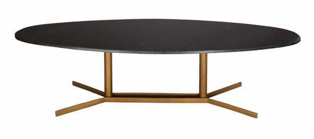Alina Black Marble Coffee Table - Maren Home