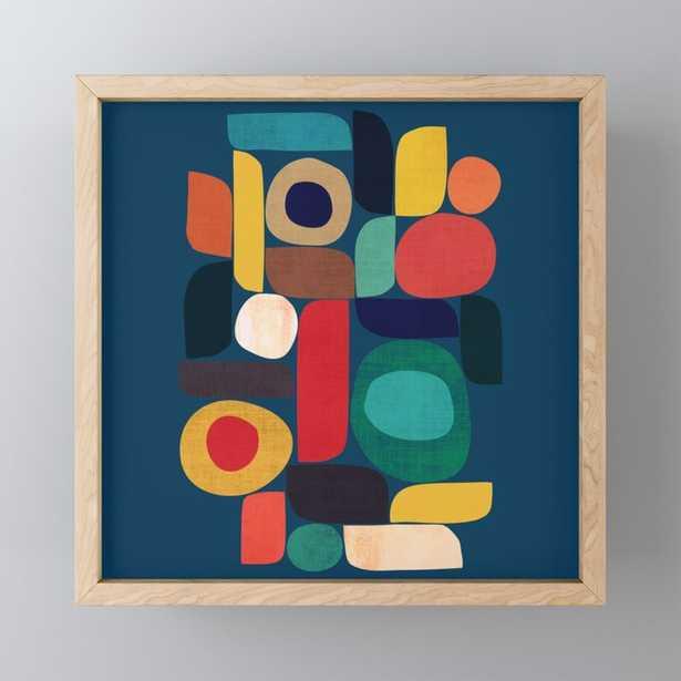 Miles and miles Framed Mini Art Print - light maple frame - Society6