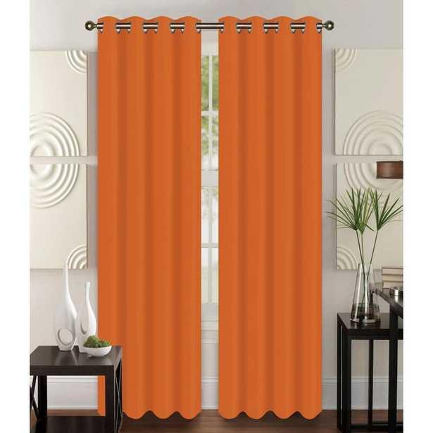 Diredra Solid Semi-Sheer Grommet Curtain Panels (Set of 2) - Wayfair